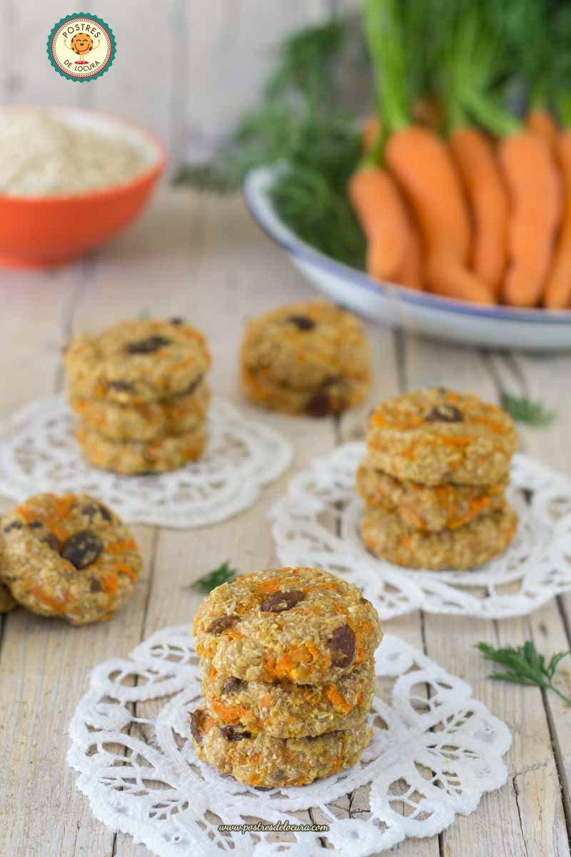 Galletas de avena, coco y zanahoria