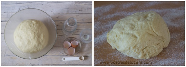 Preparacion pan de leche condensada y fruta 4