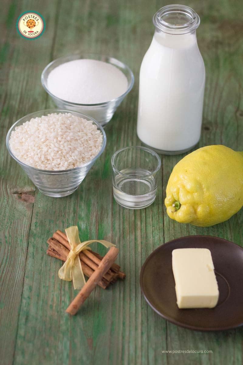 Ingredientes arroz con leche perfecto