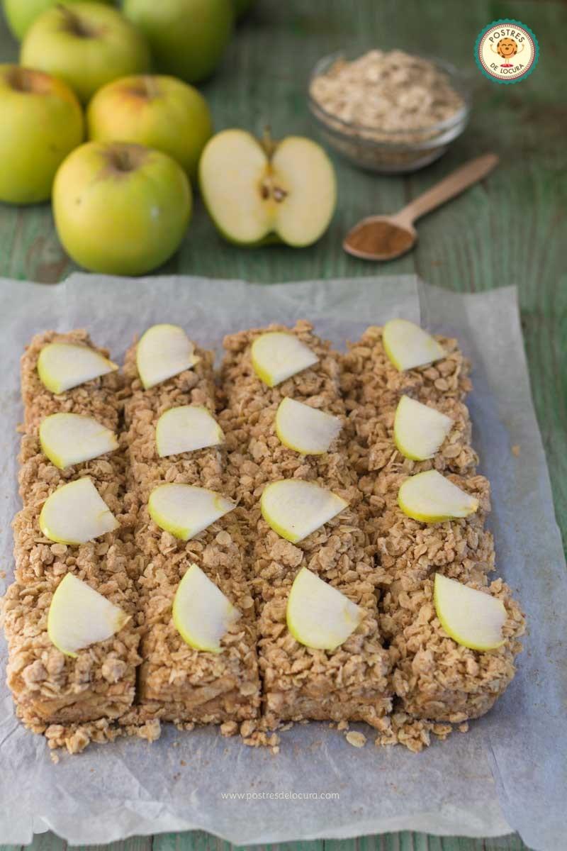 Barritas de avena y manzana