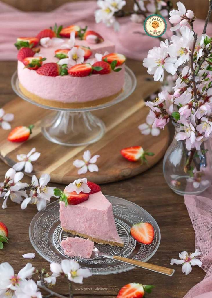 Cheesecake de fresas sin horno