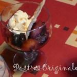 Compota de Manzana al Vino Tinto con Galleta