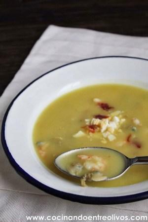 Sopa al Cuarto de Hora - Cocinando entre olivos