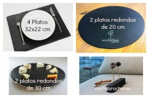 Platos de Pizarra - Collage