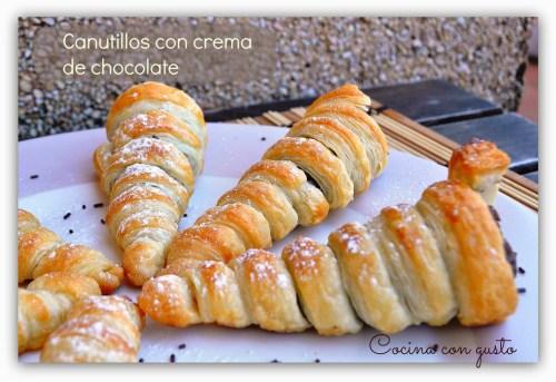 Postres en Cucuruchos - Canutillos con Crema de Chocolate
