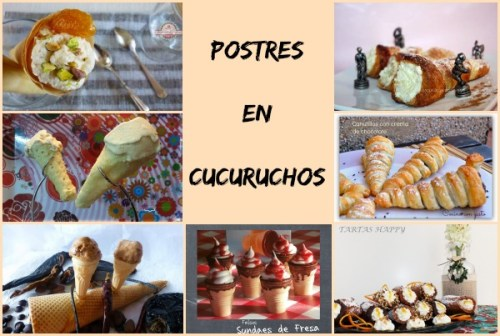 Postres en Cucuruchos Collage