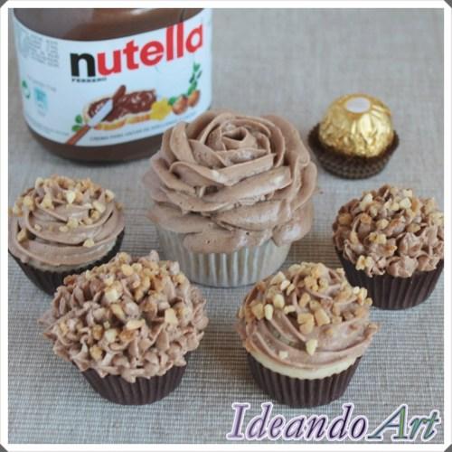 Bombones Ferrero Rocher - Mini Cupcakes