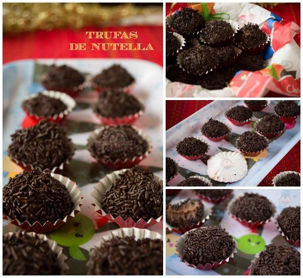Trufas de Nutella Collage