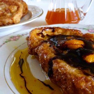 Torrijas con Naranja y Chocolate