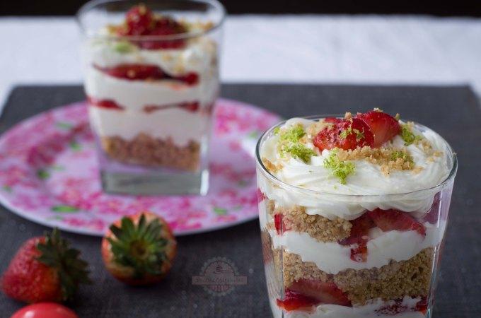 Trifle de Fresas un postre festivo