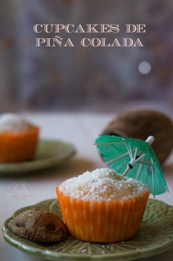 Cupcakes de Piña Colada - Texto