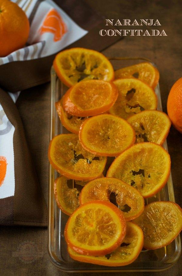 Naranja Confitada o Fruta confitada