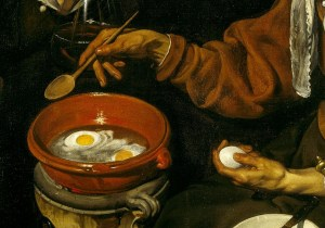 Vieja-friendo-huevos-de-Velázquez-detalle