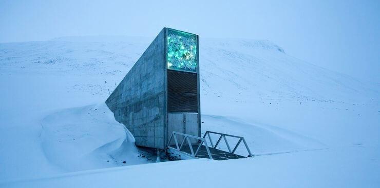 Cofre de Sementes Global em Svalbard, Noruega