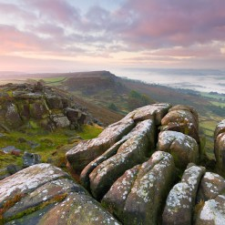 Pastels at Dawn - Curbar Edge