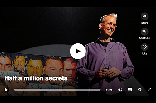 TED Talk: Half a million secrets