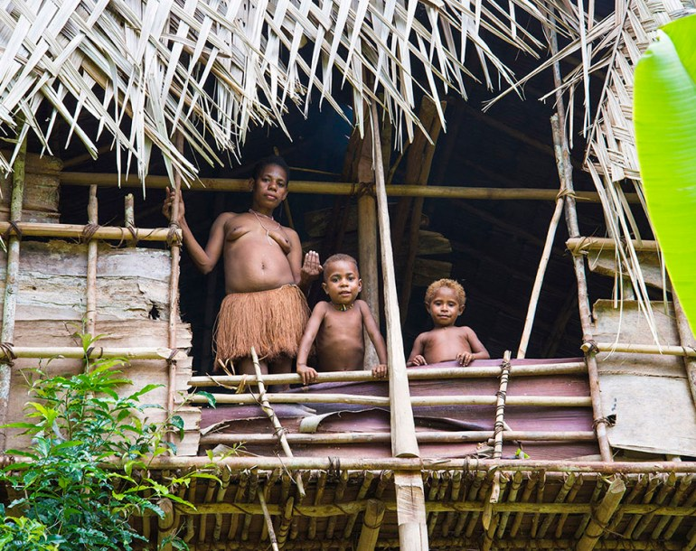 Journey to the Korowai treehouse jungle tribe, Papua, Indonesia