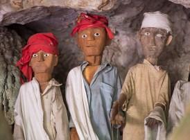Burial cave called Londa in Tana Toraja, Indonesia, with tau-tau statues and skulls
