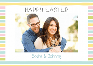 Happy easter personalised card