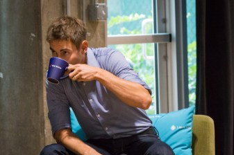 Andrew Youderian coffee cup product placement