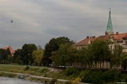 Old town view from Savinja river / Widok na stare miasto znad rzeki Savinji
