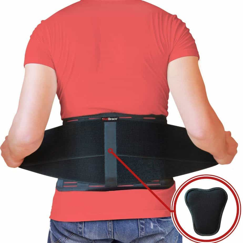 AidBrace Back Brace for Lower Back Pain Relief