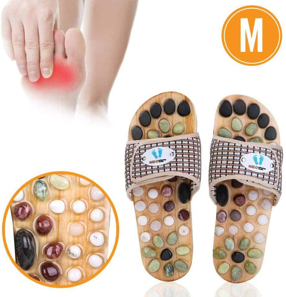 Acupressure Massage Slippers with Earth Stone