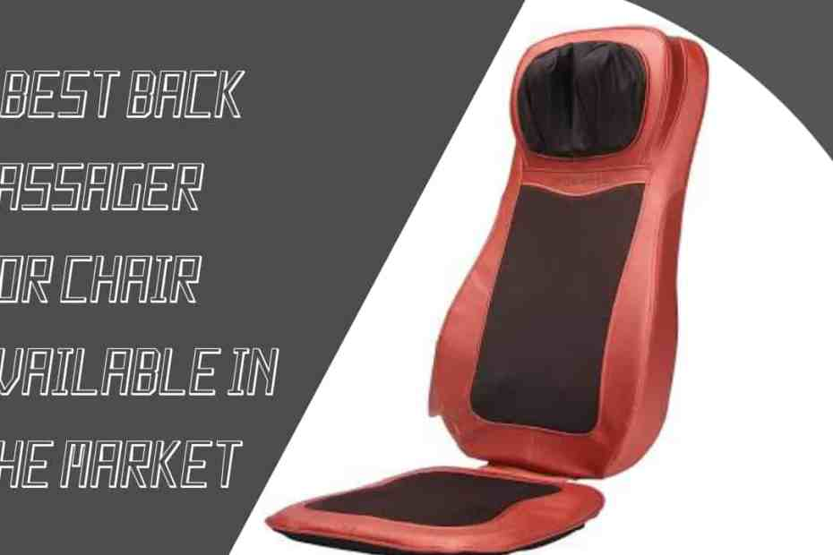 5 best back massager for chair