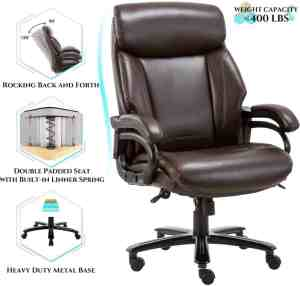 Qwork High back Big and tall 400lb Office Chair