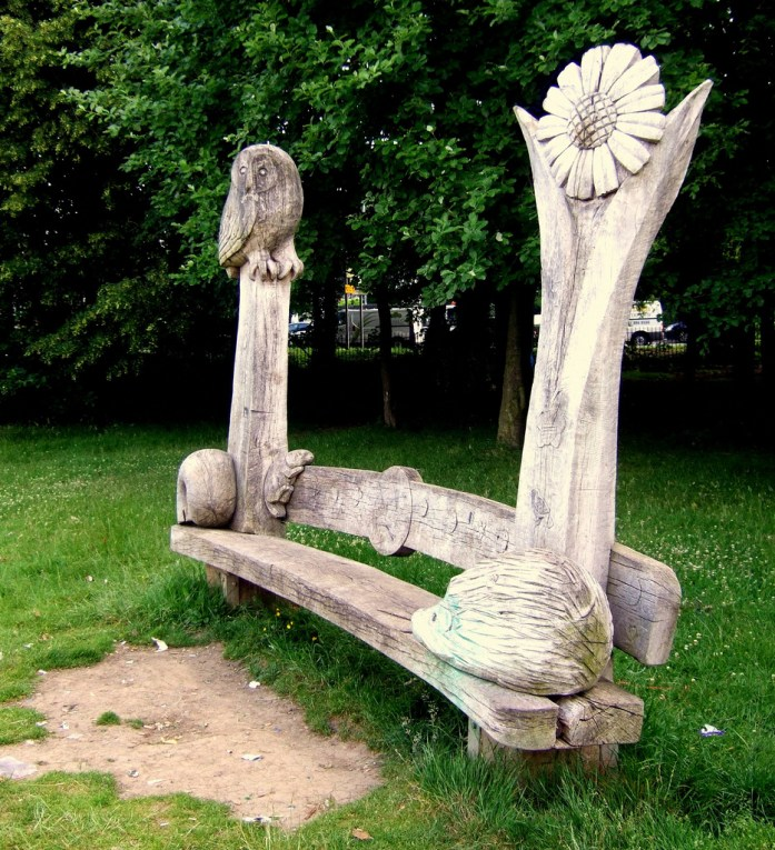 Carved Park Bench (The anatomy of A Life Decision) photo courtesy of David Masters