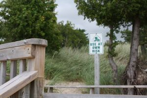 Use at your own risk -- whether walking or skinny dipping