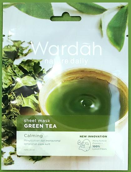 wardah sheetmask greentea