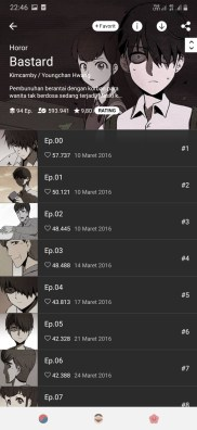 komik line webtoon horor