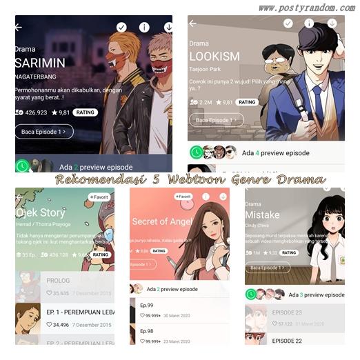 rekomendasi 5 line webtoon drama