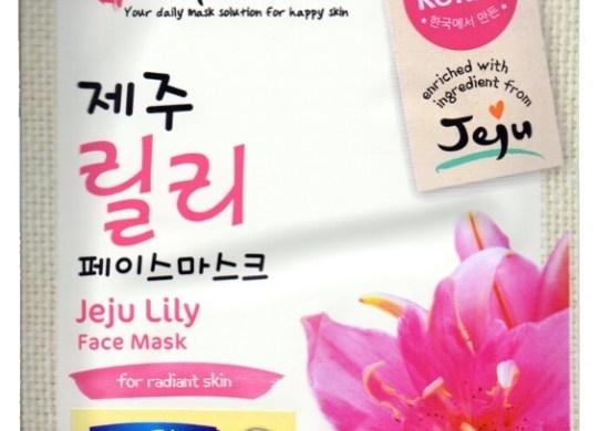 happy mask jeju lily face mask