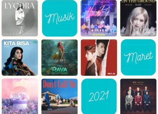 rekomendasi lagu musik maret 2021
