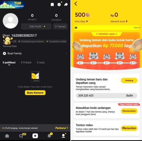 aplikasi snack video penghasil uang