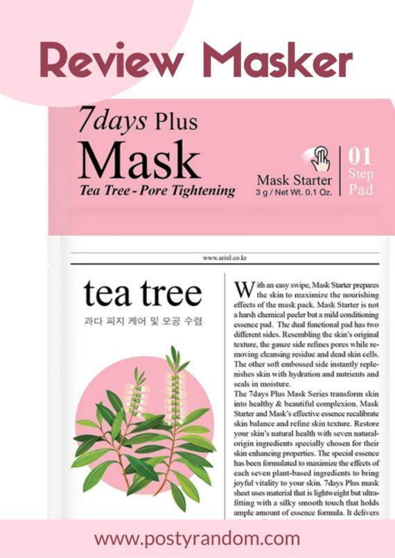 masker ariul 7 days plus tea