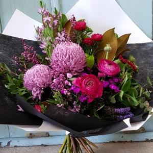 Pink seasonal posy Posy & Twine Florist