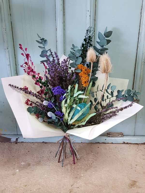 Blue dried flowers Posy & Twine