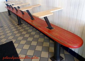 Seating at Federal Donuts Philadelphia, Pennsylvania