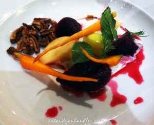 the Chef & the Farmer's Beet Salad, Kinston, North Carolina