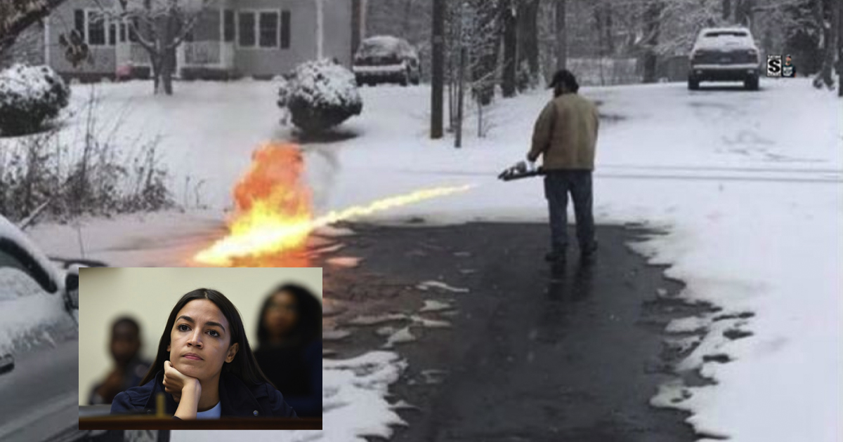 AOC Vows to Ban Flamethrowers After Snow Removal Video ...