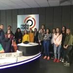 Klasa dziennikarska zWielunia zwizytą wRadiu Łódź
