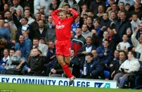 First Derby goal at Goodison