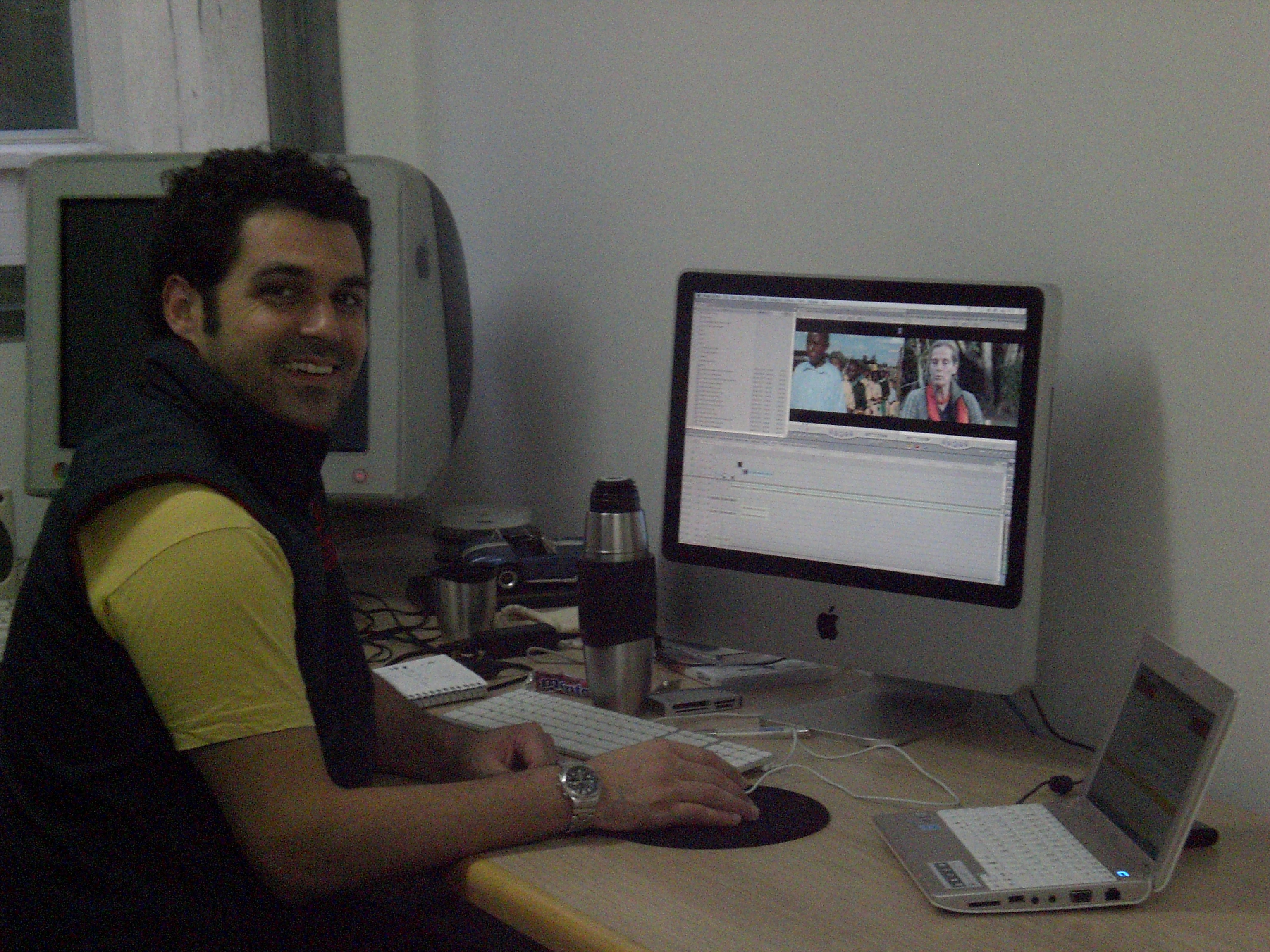 Diego in edit suite