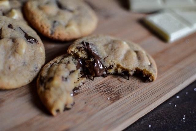 Cookies double chocolat caramel et fleur de sel