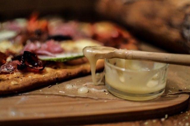 Pizza blanche d'automne