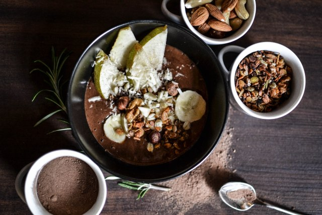 Smoothie bowl chocolat et poire