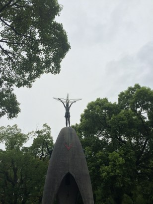 Sadako Sasaki on the Children's Peace Memorial